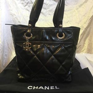 Authentic CHANEL CC Classic Quilted Handbag Purse